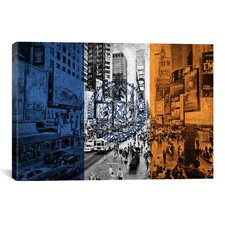Flags New York Times Square Graphic Art on Canvas