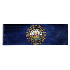 Flags New Hampshire Panoramic Graphic Art on Canvas