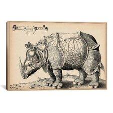 Animal Rhinoceros by Enea Vico Graphic Art on Canvas