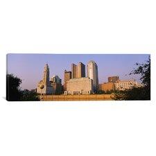 Panoramic Scioto River, Columbus, Ohio Photographic Print on Canvas