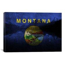 Flags Montana Lake McDonald Graphic Art on Canvas