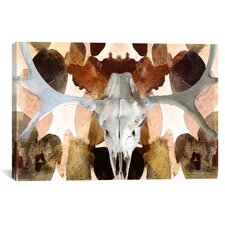 Canada Moose Skull 4 Graphic Art on Canvas
