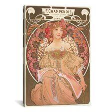 Reverie by Alphonse Mucha Graphic Art on Canvas