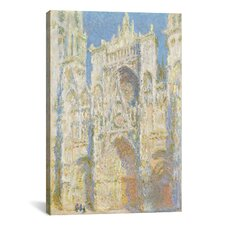 'Rouen Cathedral I' by Claude Monet Painting Print on Canvas