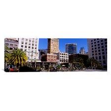 Panoramic Union Square, San Francisco, California Photographic Print on Canvas