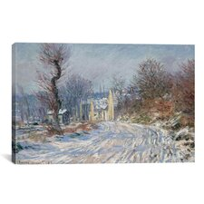 'Route Deggiverny En Hiver 1885' by Claude Monet Painting Print on Canvas