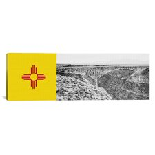 Flags New Mexico Rio Grande Panoramic Graphic Art on Canvas