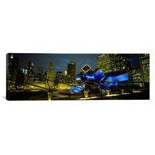 Panoramic Pritzker Pavilion, Chicago, Illinois Photographic Print on Canvas