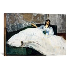 'Portrait of Jeanne Duval' by Edouard Manet Painting Print on Canvas