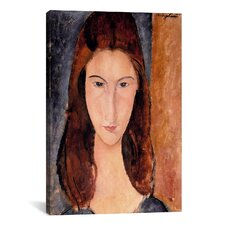 'Portrait of Jeanne Hebuterne' by Amedeo Modigliani Painting Print on Canvas