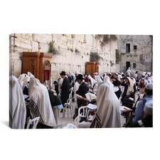 Jewish 'Praying at The Westren Wall' Photographic Print on Canvas