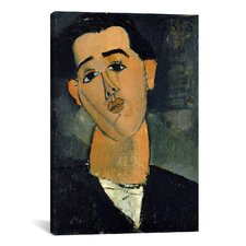 Fine Art 'Portrait of Juan Gris' by Amedeo Modigliani Painting Print on Canvas