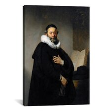 'Portrait of Johannes Wtenbogaert 1633' by Rembrandt Painting Print on Canvas