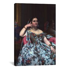 'Portrait of Madame Moitessier' by Jean Auguste Ingres Painting Print on Canvas