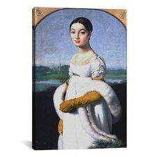 'Portrait De Mademoiselle Riviere' by Jean Auguste Ingres Painting Print on Canvas