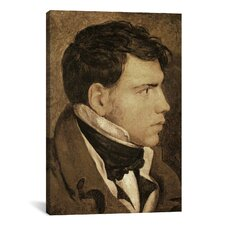 'Portrait of a Young Man' by Jean Auguste Ingres Painting Print on Canvas