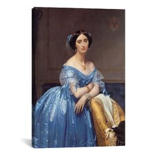 'Princess De Broglie' by Jean-Auguste Ingres Painting Print on Canvas