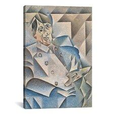 'Portrait of Pablo Picasso' by Juan Gris Painting Print on Canvas