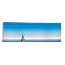 Panoramic 'Statue of Liberty, New York City' Photographic Print on Canvas