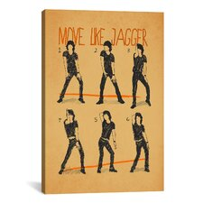 Move Like Jagger by Maximilian San Graphic Art on Canvas in Orange