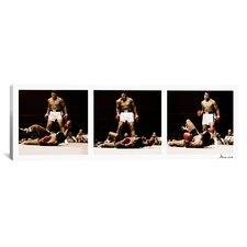 Muhammad Ali Vs. Sonny Liston, 1965 Photographic Print on Canvas in White