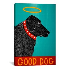 Good Dog by Stephen Huneck Graphic Art on Canvas in Black