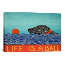 Life Is a Ball by Stephen Huneck Graphic Art on Canvas in Black
