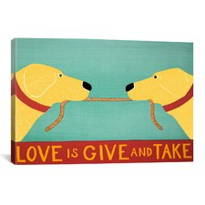 Love Is by Stephen Huneck Graphic Art on Canvas in Yellow