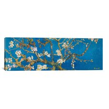 """Almond Blossom"" by Vincent Van Gogh Painting Print on Canvas in Blue"