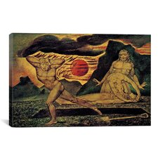 'The Body of Abel Found by Adam and Eve 1825' by William Blake Painting Print on Canvas