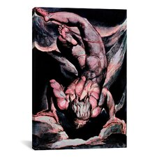 'The First Book of Urizen, Man Floating Upside Down' by William Blake Painting Print on Canvas
