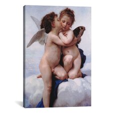 'The First Kiss' by William-Adolphe Bouguereau Painting Print on Canvas