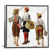 'The Fishing Trip' by Norman Rockwell Painting Print on Canvas