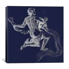 Astronomy and Space Water Bearer (Aquarius) Graphic Art on Canvas in Blue