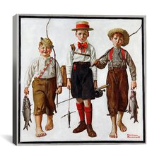 'The Catch' by Norman Rockwell Painting Print on Canvas