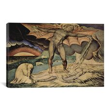 'The Examination of Hiob' by William Blake Painting Print on Canvas