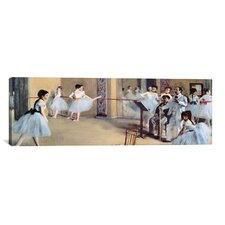 'The Dance Foyer at the Opera' by Edgar Degas Painting Print on Canvas