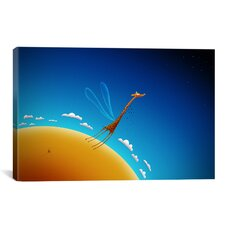 Kids Children The Flying Giraffe Canvas Wall Art