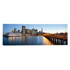Panoramic San Francisco Pier, San Francisco, Califorina Photographic Print on Canvas