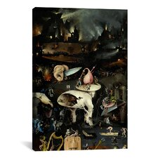 'Top of Right Panel from the Garden of Earthly Delights' by Hieronymus Bosch Painting Print on Canvas