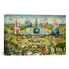 'Top of Central Panel from the Garden of Earthly Delights' by Hieronymus Bosch Painting Print on Canvas