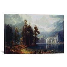 'Sierra Nevada' by Albert Bierstadt Painting Print on Canvas