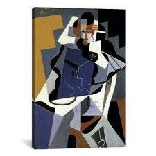 'Seated Woman' by Juan Gris Painting Print on Canvas