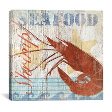 """Seafood IV"" Canvas Wall Art by Veronique"