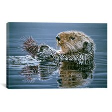 """Sea Otter with Urchin"" Canvas Wall Art by Ron Parker"