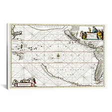 """""""Sea Chart of North American Discovery"""" Canvas Wall Art by Jan Jansson"""