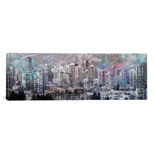 Vancouver, Canada Skyline Panoramic #4 Graphic Art on Canvas