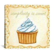 """Vanilla Cupcake"" by Jennifer Nilson Graphic Art on Canvas"