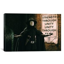 V for Vendetta Movie Vintage Advertisement on Canvas