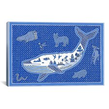 """""""W Whale"""" Canvas Wall Art by Willow Bascom"""